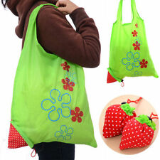 1X Strawberry Foldable Eco Bag Reusable Shopping Tote Shoulder Purse Cute Beauty