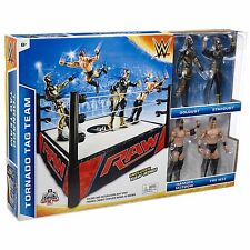 Mattel Tornado Tag Team Damien Mizdow The Miz Goldust Stardust  w/ Raw Ring