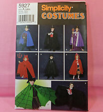 Simplicity 5927 Kids 8 Look Costume Cape Sewing Pattern S-M-L
