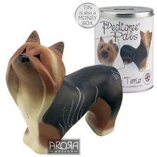 My Pedigree Pals Yorkie Dog Figurine  NEW in TIN Money Box 18036