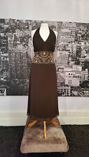 Arruba designer dress (Chocolate) Special Occasion. Price tag says £175