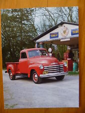 POSTCARD...1950's CHEVROLET PICK UP..ZAZZLE CARD FROM USA..LION GASOLINE