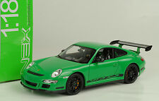 2007 Porsche 911 997 gt3 RS Green verde 1:18 Welly