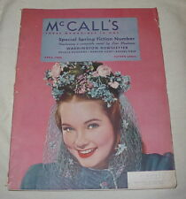 MCCALLS MAGAZINE APRIL 1942 WASHINGTON NEWSLETTER LOIS MONTROSS MOVIE REVIEW