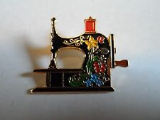 """Clotilde 20 Years, 1971-1991"" Multi-Colored Enamel Sewing Machine Pin, 1 1/4"""