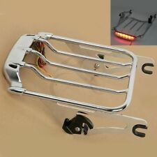 2 Up Pack Air Wing Luggage Rack w/ Light For Harley Street Road Glide FLTR FLHX