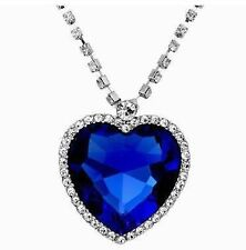 Valentines Day Love Gift Heart of Ocean Titanic Pendent Necklace for Women
