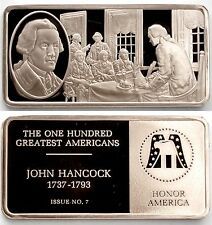 007. John Hancock '1776 First Signer of the Independence' Bronze Ingot Bar