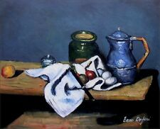 Paul Cezanne Still Life with Kettle Repro, Hand Painted Oil Painting 20x24in