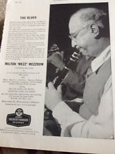 M4-1 Ephemera 1950s Advert Milton Mezz Mezzrow Ducretet Thomson Records