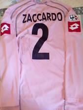 Maglia Palermo Lotto Zaccardo Autografata Patch Serie A Match Worn.