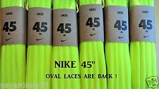 """NIKE 45"""" OVAL SHOELACES VOLT 1 PAIR NEW NEON BRIGHT YELLOW FOR SNEAKERS LACES"""