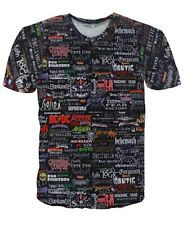 Heavy Metal Band Logos Collage Size Men XXL T-shirt # A079