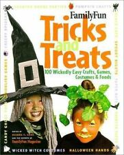 FamilyFun Tricks and Treats: 100 Wickedly Easy Costumes, Crafts, Games-ExLibrary
