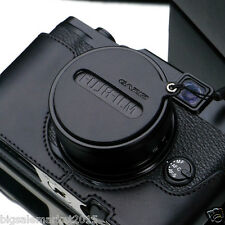 GARIZ Leather Capfix Black for FUJI X30 FUJI X20 FUJI X10 Lens Cap Protection