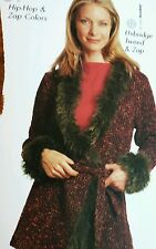 Berroco Knitting Pattern Book #211 Basics 1 2 3 Gr8 Wrap Sweater Coat w Yarn Fur
