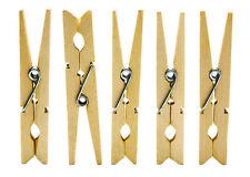 48 Clavijas de lavado de ropa de madera colgante Secador De Madera Peg Clip Muelle línea seca