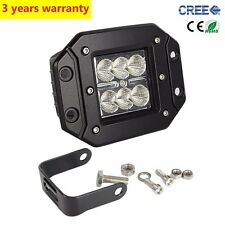 "4"" 24W Flood Square CREE LED Cube Pod Work Light Flush Mount Offroad Truck Jeep"