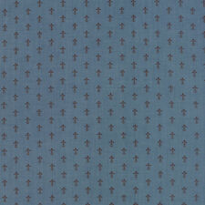 LE MARAIS~FRENCH GENERAL~BY 1/2 YD~MODA~13736-12~TINY FLEUR DE LIS ON WOAD BLUE