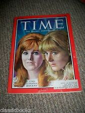 TIME MAGAZINE Lynn and Vanessa Redgrave  Mar. 17, 1967