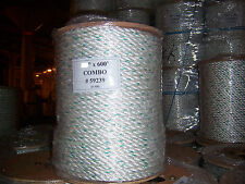 3/4 x 600 Polydac combo rope / dock line / anchor line / climbing rope