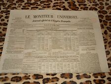 LE MONITEUR UNIVERSEL, journal officiel de l'empire français, n° 288, 15/10/1858