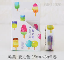 Color ice cream Paper Sticky Adhesive Sticker Decorative Washi Masking Tape