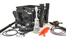 Deluxe Kayak Angler Crate Kit w/Anchor Rod Holders Fish Grips Leashes and Pocket