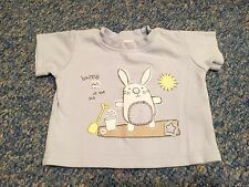 Baby Boy Blue Beach Bunny Tshirt Top 3-6 Months By Earlydays