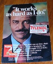 1981 TYLENOL CAPSULES PAIN RELIEVER PRINT AD~HEADACHES~McNEIL PRODUCTS