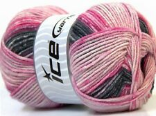 100g Wolle Wool Bamboo Pink Shades *ICE YARNS* 45% Bamboo 45% Wolle 270m / 100g