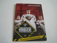 2013/14 NHL VANCOUVER GIANTS POCKET SCHEDULE***WESTERN HOCKEY LEAGUE***