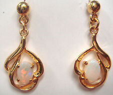 Lady Natural Crystal Opal Earring With 925 Solid Silver Set 9.985cts 24x10x3mm