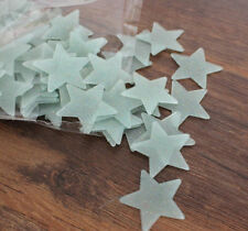 Glow In The Dark Star Plastic Wall Stickers Ceiling Bedroom Decal Decor 100pcs