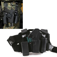 Quick Tactical Right Hand Paddle Leg Belt Thigh Hard Drop Holster Fr GLOCK 17 19