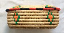 "Hand Woven Sweet Grass Oval Trinket Basket 9"" X 5.5"" X 4.25"""