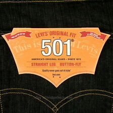 Levis 501 Jeans New Original Mens Size 40 x 30 DARK BLUE Button Fly Levi's NWT