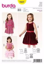 BURDA KIDS SEWING PATTERN GIRLS PARTY DRESS  SIZE 2 - 7   9427