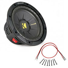 Kicker CWS8 8-inch CompS Series 2-Ohm 200-Watt RMS Sub Subwoofer Install Kit