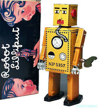 SCHYLLING WIND UP ROBOT LILLIPUT TIN TOY YELLOW VERSION - SALE!