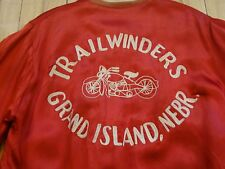 1950s MOTORCYCLE CLUB JACKET TRAILWINDERS GRAND ISLAND by EMPIRE HARLEY INDIAN