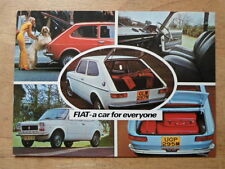 FIAT 127 orig 1975 UK Mkt Unused Factory Postcard - Brochure related