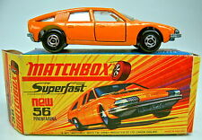 "Matchbox SF Nr.56A BMC Pininfarina orange breite Räder in ""I"" Box"