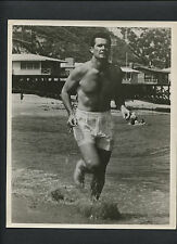 JAMES GARNER IN SWIMSUIT ON THE BEACH AT MALIBU - 1960s CANDID - RUNNING