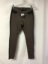 NWT Women's Hue Two Tone Denim Leggings Size Small Shitake #398P
