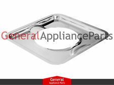 """GE Hotpoint RCA Kenmore Gas Stove Range Cooktop 7 3/4"""" Square Chrome Drip Pan"""