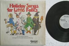 Holiday Songs For Little Folks Jean Reese Thomas LP Shawnee Press N211 VG