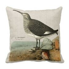 Black Friday Sale Vintage Sandpiper by the Sea Pillow Case Xtmas Cushion Covers
