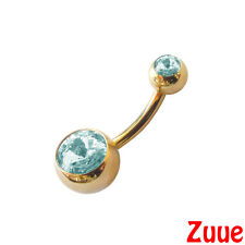 24ct Gold Plated Belly Bars HYPOALLERGENIC For Sensitive Skin 1.6mm 10mm 24kt
