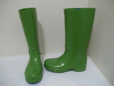 CUTE WOMENS GIRLS CROCS TALL GREEN RUBBER RAIN BOOTS SZ 5J 7W
